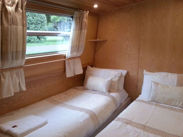 Widebeam Boat Holidays UK - Geanna wide beam canal boat cabin 1