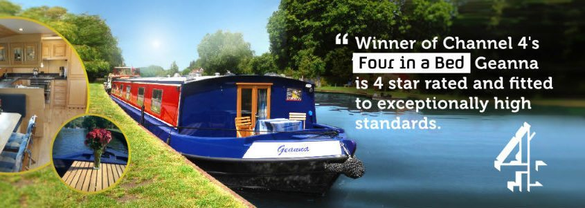 winner of 4 in a bed wide beam canal boat geanna