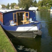 Boat hire Henley - Geanna moored